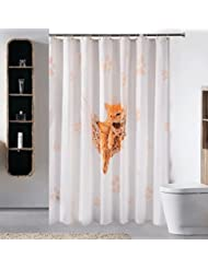 D G F Cortina de ducha de poliéster Baño de interior Impermeable Anti-niebla Cortina de ducha de gato de ocio Multi-tamaño Opcional ( Tamaño : 150*180cm )