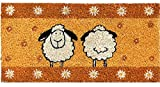 matches21 Fußmatte Fußabstreifer Mini Kokos Schaf orange 30x60x1,5 cm Rutschfest
