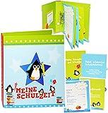 alles-meine.de GmbH Ordner / Ringbuch / Sammelordner -  Meine Schulzeit  __ lustige Pinguine - A..