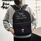 YZBB Jugend Tasche Schul Mode Trend Koreanische Version Campus Leinwand Freizeit Rucksack Schultertasche High School Student Computer Tasche, Coke Cup