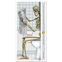 A Beistle Creation Skeleton Restroom Door Cover Party Accessory (1 count) (1/Pkg)