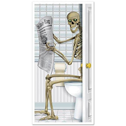 Beistle Skeleton Restroom Türbezug Party Zubehör (1 Count) (1 / Pkg)