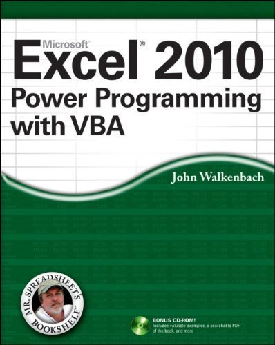 Excel 2007 Power Programming with VBA (Mr. Spreadsheet's Bookshelf) by Walkenbach, John PAP/CDR Edition [Paperback(2007)]