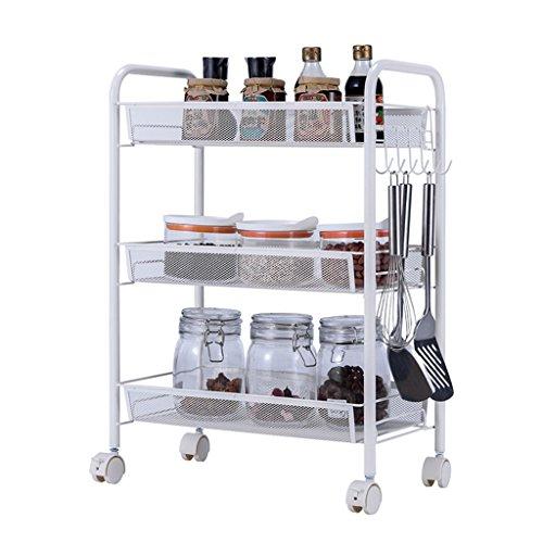 &étagère de rangement Rack de stockage Remo Vable Cuisine Salon Chambre Chevet Stockage Roulant Panier Mobile 3 Rangement Rack Pour Répondre à Différents Besoins Rack de finition