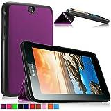 Infiland Lenovo IdeaTab A7-50/A7-40 7 Pulgadas Android Tablet Funda, Ultra Delgada Tri-Fold PU Cuero Cascara para Lenovo IdeaTab A7-50/A7-40 Android Tablet (7 Pulgadas) Tablet-PC