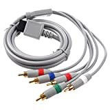 AV Komponente Kabel - TOOGOO(R)RCA YPbPr Komponenten-Kabel AV Audio Video 1.7m fuer Nintendo Wii Grau