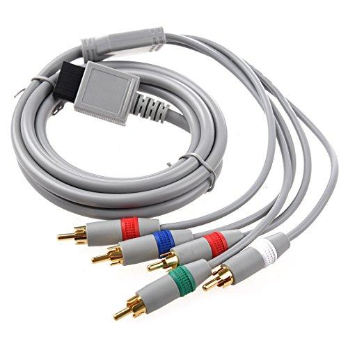 AV Cable Componente para WII - TOOGOO(R)RCA YPbPr Cable AV componente