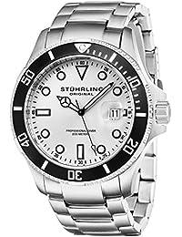 Stuhrling Original 417.01 Orologio da Polso, Display Analogico, Uomo, Cinturino Acciaio Inox Argento