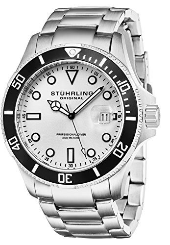Stuhrling Original - 417.01 - Montre bracelet - Quartz - Affichage - Analogique - Bracelet - Acier inoxydable - Argent - Cadran - Argent - Homme