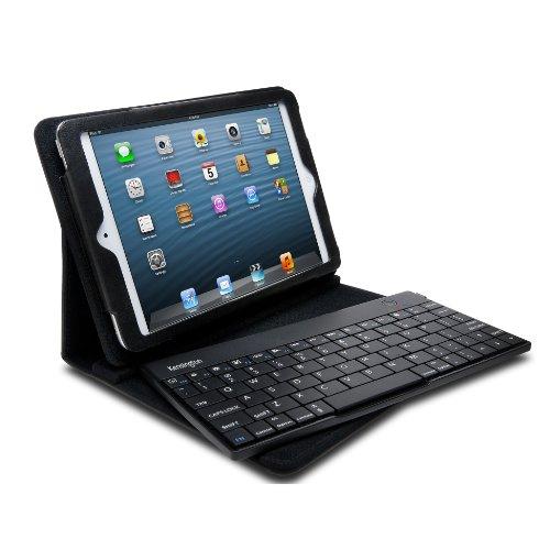 Kensington Apple iPad Mini 1, 2, 3 & 4 Bluetooth drahtloser Keyboard QWERTZ Tastatur Ständer Premium-Leder Kasten Abdeckung