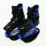 Saltar Rebotar Zapatos Unisex Jumping Boots Bounce Outdoor Sports,Blue,XL