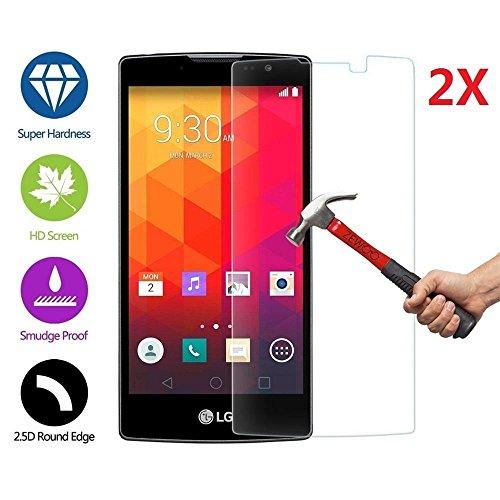 2 X LG Spirit LTE Screen Protector , Tempered Glass Hartglas Displayschutz Folie für LG Spirit 4G LTE H440N C70 Schutzfolie Glas