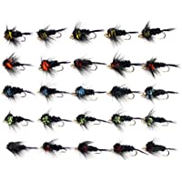 Lakeland Fishing Supplies Juego de (M3) 25x Oro Headed Montana ninfas Trucha Pesca con Mosca Moscas, Talla 12