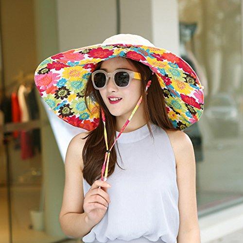 Upper-Protection Sun Hat version Corée Hat folding Beach vacances d'UV solaire jeunesse hats Sunflower khaki