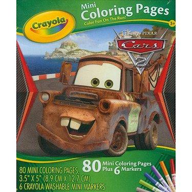 Crayola 04-5056 - Cars - 80 Mini Blätter zum Ausmalen (Color Wonder Mini)