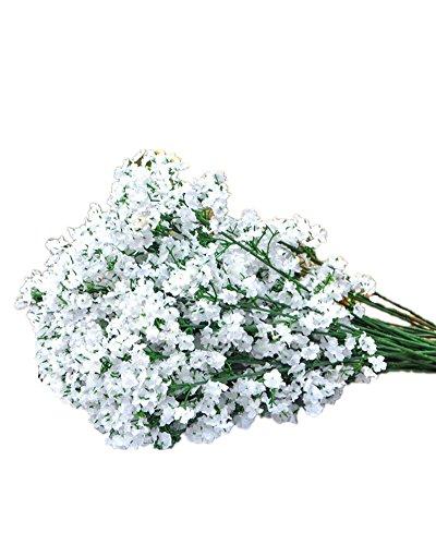 SAMGU 10 Stück Kunstseide blüht Schleierkraut Schleierkraut Pflanzen Startseite Hochzeitsdeko Weiß