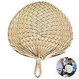 ulofpc Ventilatore Tessuto Intrecciato a Mano ventaglio Tessuto pupa Ventilatore di bambù in Stile Cinese ventaglio Ventola Estate rifornimenti di refrigerazione