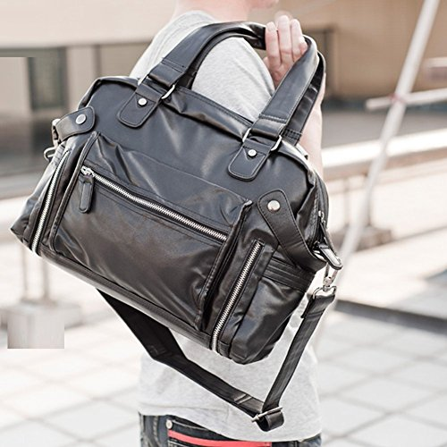 Everdoss Hommes sac à main en cuir PU sac à bandoulière sac d'épaule sac de messager loisirs voyage populaire
