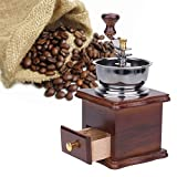 Best GENERIC coffee grinder - Generic Antique Hand Coffee Grinder Wood Stand Metal Review