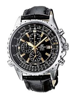 Casio Men's Edifice Analogue Quartz Watch with Leather Strap EF-527L-1AVEF (B001TK3CIC)   Amazon price tracker / tracking, Amazon price history charts, Amazon price watches, Amazon price drop alerts