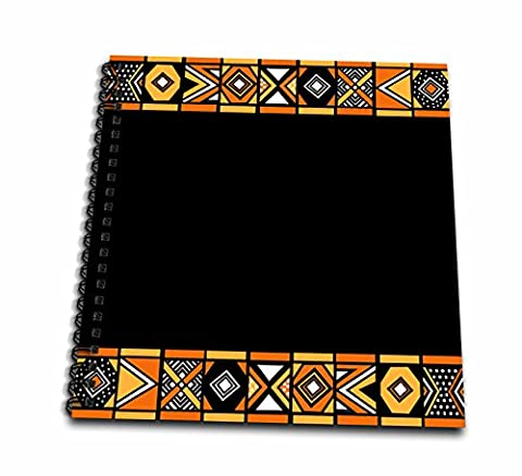3dRose Traditional African Pattern-Art of Africa Inspired by Zulu Beadwork Geometric Designs-Ethnic-Mini Notepad, 4 by 4