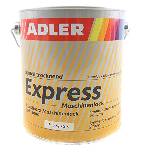 ADLER Express-Maschinenlack Y10 52 Gelb 2,5l Kunstharzlack Spritzlack Lack