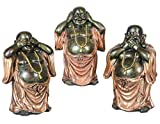 """Aricola Buddha Figuren Set 3-tlg. """"nichts sehen, nichts hören, nichts sagen"""". Dekorative Buddha Statuen aus Polyresin."""