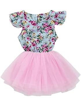 Mädchen Kleider Kinder Sommerkleider Longra Kleinkind Kinder Baby Mädchen Kleidung Blumemuster Kleider Druckkleider...