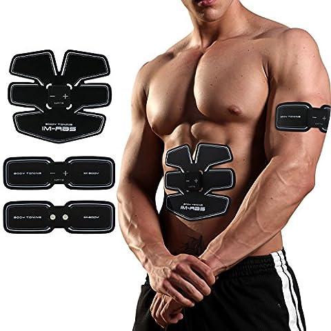 Ceinture de Musculation Abdominale, Appareil Abdominaux de Fitness USB Charge Ceinture d'électrostimulation Exercer Abdominal , Bras , Cuisse pour Homme et Femme