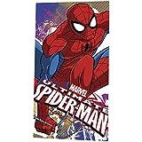 Marvel Ultimate Spider-Man para niños (120 x 60 cm), diseño de playa y toalla de baño carácter