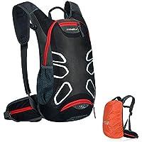 Leichter Fahrradrucksack 15L Wasserdicht Fahrrad Rucksacke mit Regenschutz Trinkrucksack für Radsport Radfahren Running Laufen Jogging