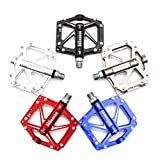 Wily Ultra-light Aluminium Fahrrad Pedale Antirutschpedale MTB / Mountainbike Pedal / BMX Pedal / Abgedichtetes Lager+Cr-Mo Achse