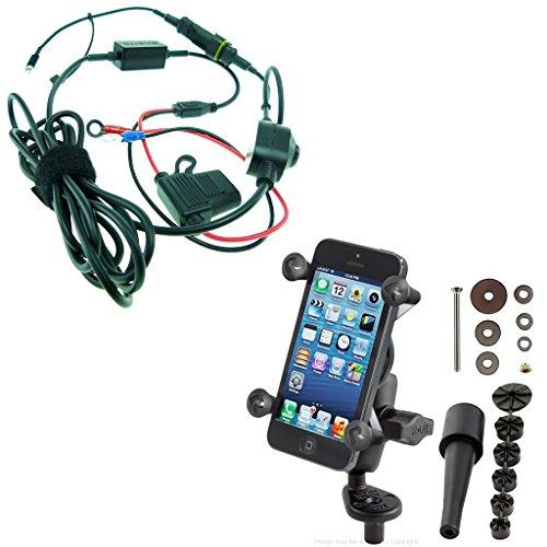 Buybits Mount Bundle High Power hartem Draht & RAM X-Grip Gabel Vorbau Halterung Mit Verlängerungsarm für iPhone 8(11,9cm) -