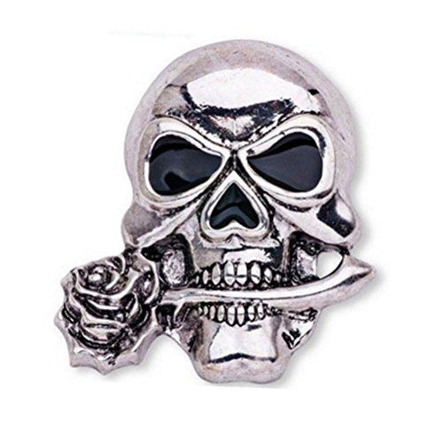 Pin de broche de huesos del cráneo punky gótico Pincho de...