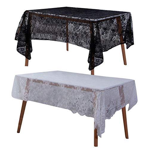 cuffslee Spitzentischdecke Nordischen Stil Square Art Schreibtisch Tischdecke Vintage Floral Bestickte Tischdecken Spitze Tischdecke Dekoration Für Hochzeitsfest Haus