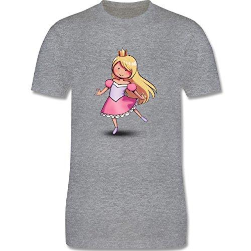 Karneval & Fasching - Tanzende Prinzessin - Herren Premium T-Shirt Grau Meliert