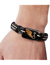 Cosanter Bracelets Woven Leather Retro Bracelet Valentine's Day Gift Lovers Bracelets