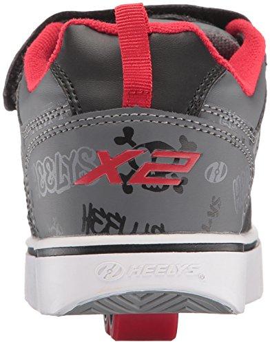 Heelys Jungen X2 Bolt Turnschuhe Schwarz (Black / Grey / Red)