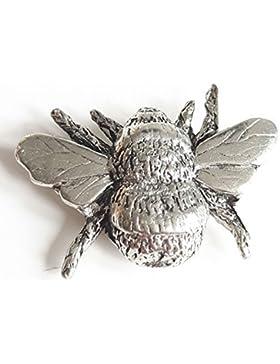 Bee fein handgefertigt in massivem Zinn in Großbritannien Anstecknadel + Geschenk Tüte