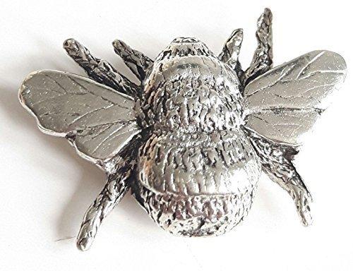 Bee fein handgefertigt in massivem Zinn in Großbritannien Anstecknadel + Geschenk Tüte (Biene Gift)