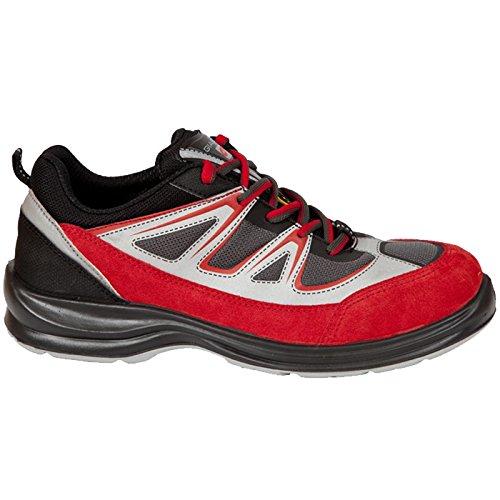 Giasco UR062R47 Energy Chaussures de sécurité bas S1P Taille 47 Rouge/Noir