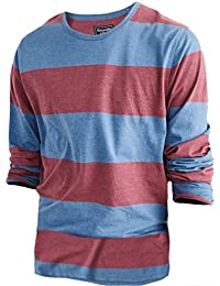 Abercrombie - Homme - Striped Tee Shirt Top T-shirt - Manche Longue