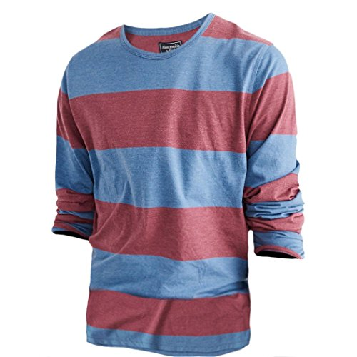abercrombie-homme-striped-tee-shirt-top-longue-taille-x-large-rouge-a-rayures-625836289