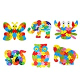IPOTCH Holz Puzzle Tierform Holzpuzzle mit A ~ Z Alphabet Pädagogisches Holzspielzeug für Kinder ab 3 Jahre