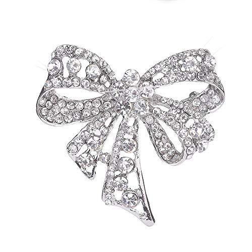 Olydmsky Brosche Mode Diamant Schmetterling Knoten Brosche Lady Dress up Fashion Brust Dekoration Seidenschal ()