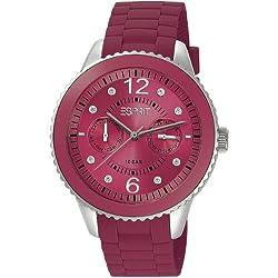 Esprit Marin 68 Speed Watch Analogue Rubber Quartz ES105332013 Raspberry