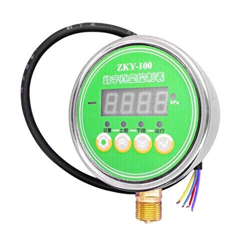 Gazechimp 24 V Digital Manometer, Zky-100 Druckmesser 105mm z.B. für Druckminderer, Wasserfilter, Druckanzeiger, Druckanzeige - 2 kanal