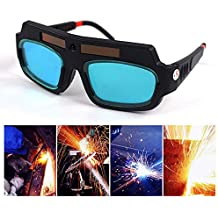 KOBWA Gafas de Soldar Luz Automática, Gafas de Protección para Soldar, Regulador Automático para