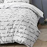 WSGYA Bettwäsche Cover Letter Bettbezug Single King Size Family Bettbezug 155x215 Weiß
