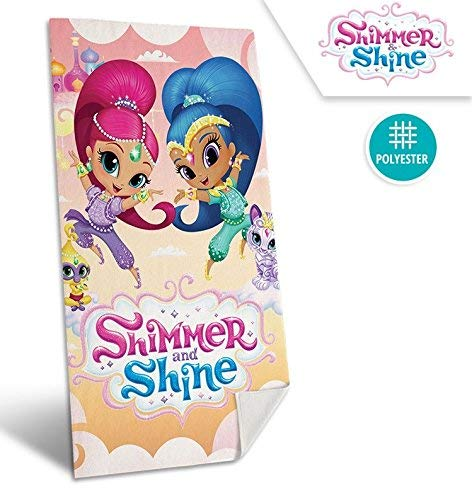 Kids Badetuch Shimmer and Shine, Polyester, beige, 30.0x 35.0x 5.0cm -